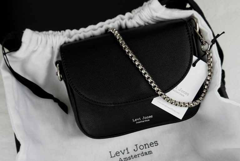 Levi Jones vegan leather handbag brand. ecom packaging